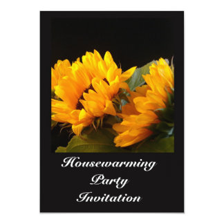 "Housewarming Party Invitation sunflowers 5"" X 7"" Invitation Card"