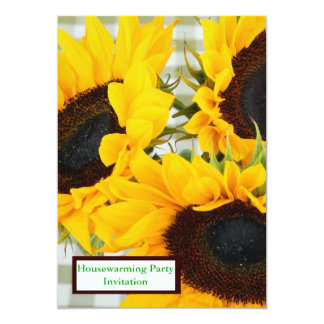 Housewarming Party Invitation with sunflower