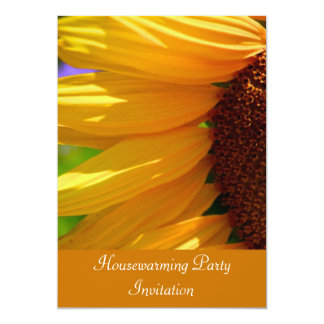 "Housewarming Party Invitation with sunflower 5"" X 7"" Invitation Card"