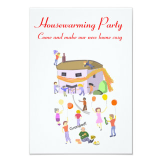 Housewarming Party Invitations House in a scarf.