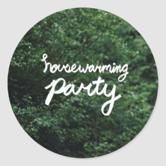 HOUSEWARMING PARTY Logo Sticker