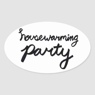 HOUSEWARMING PARTY Logo Sticker - Transparent