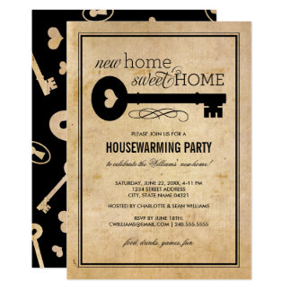 Housewarming Party | New Home Sweet Home 13 Cm X 18 Cm Invitation Card