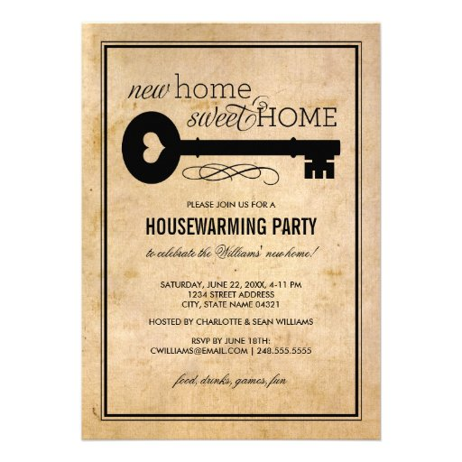 Housewarming Party | New Home Sweet Home Invites