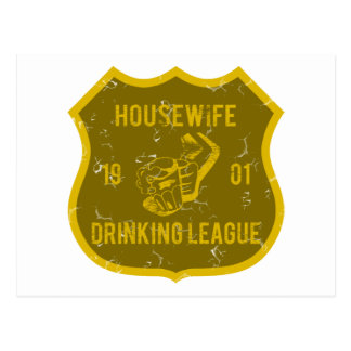 Housewife Drinking League Postcard