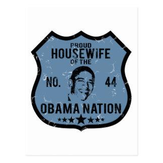 Housewife Obama Nation Postcard