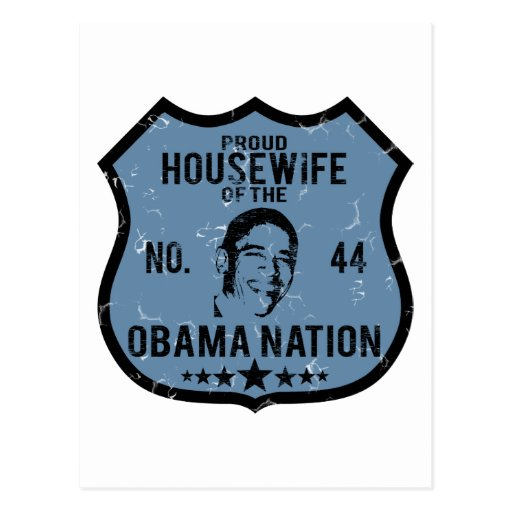 Housewife Obama Nation Post Card