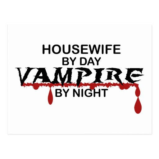 Housewife Vampire by Night Post Card