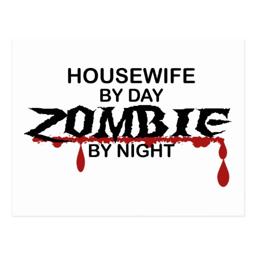 Housewife Zombie Post Cards