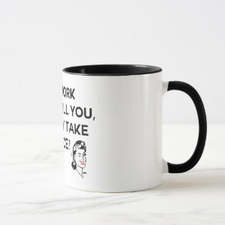 Housework can't kill you mug