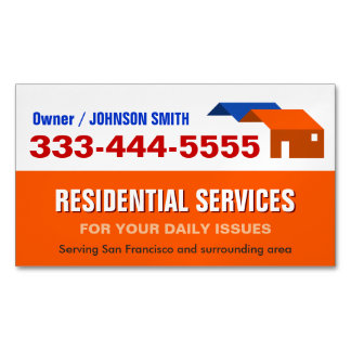 Housing and Residential Services Fridge Magnet Magnetic Business Cards