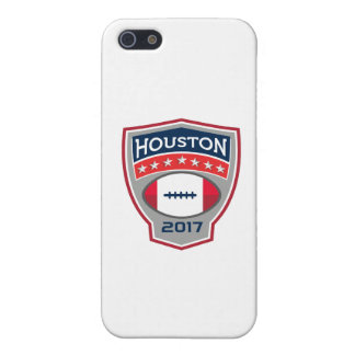 Houston 2017 American Football Big Game Crest Retr iPhone 5 Cover