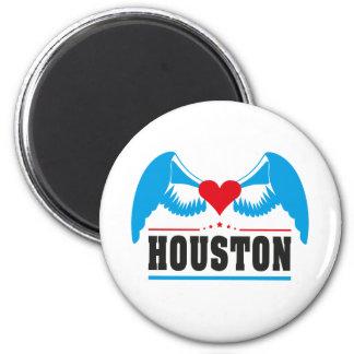 Houston 6 Cm Round Magnet