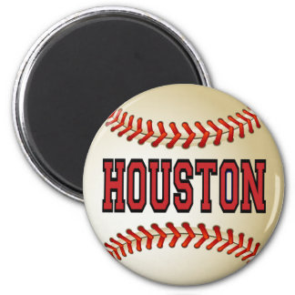 HOUSTON BASEBALL 6 CM ROUND MAGNET