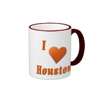 Houston  -- Burnt Orange Coffee Mug