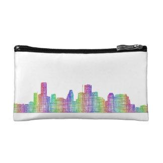 Houston city skyline cosmetic bag