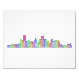 Houston city skyline photo print