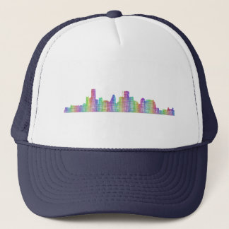 Houston city skyline trucker hat