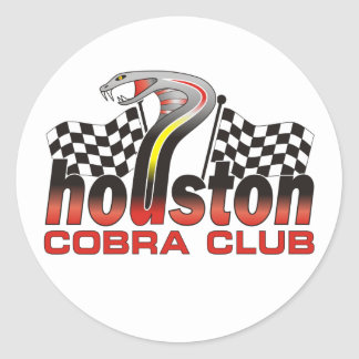 Houston Cobra Club Logo - December 2009 Classic Round Sticker