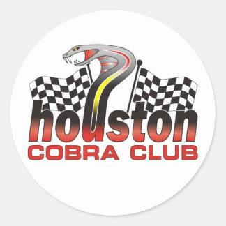Houston Cobra Club Logo - December 2009 Round Sticker