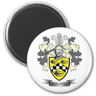 Houston Family Crest Coat of Arms 6 Cm Round Magnet
