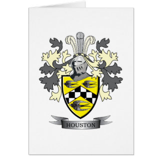 Houston Family Crest Coat of Arms Card