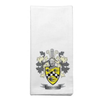 Houston Family Crest Coat of Arms Napkin