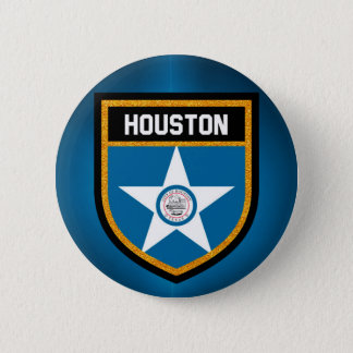 Houston  Flag 6 Cm Round Badge