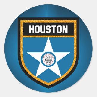 Houston  Flag Classic Round Sticker