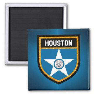 Houston  Flag Square Magnet