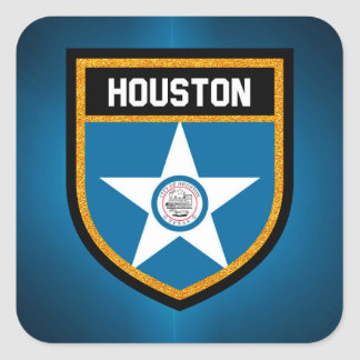 Houston  Flag Square Sticker