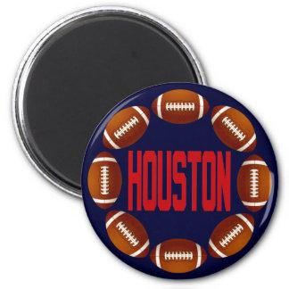 HOUSTON FOOTBALL CIRCLE 6 CM ROUND MAGNET