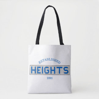 Houston Heights Blue and White Tile Tote Bag
