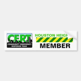 Houston Heights CERT Sticker Bumper Sticker