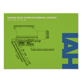 Houston Intercontinental Airport (IAH) Poster