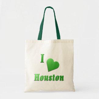 Houston -- Kelly Green Tote Bag
