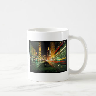 Houston Main Street at Night Mug