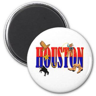 Houston Pics 6 Cm Round Magnet