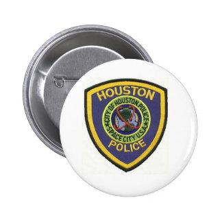 houston police pinback button