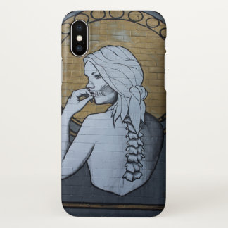 Houston Skeleton Lady iPhone X Case