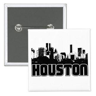 Houston Skyline Pinback Buttons