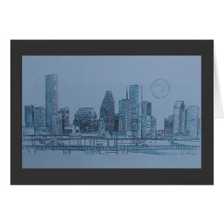 houston skyline card