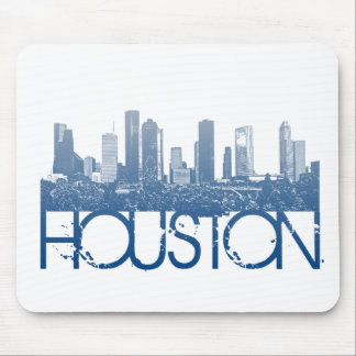 Houston Skyline Design Mouse Pad