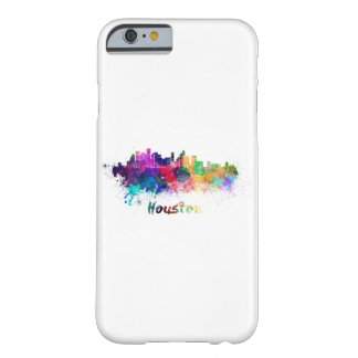 Houston skyline in watercolor barely there iPhone 6 case