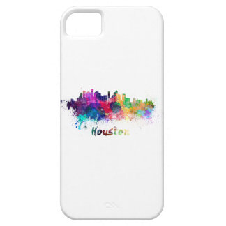 Houston skyline in watercolor iPhone 5 cover