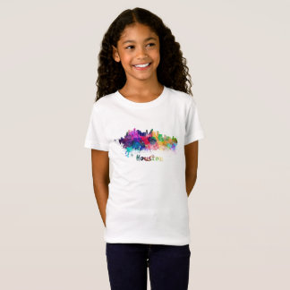 Houston skyline in watercolor T-Shirt
