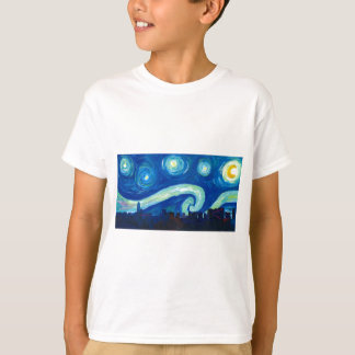 Houston Skyline Silhouette with Starry Night T-Shirt