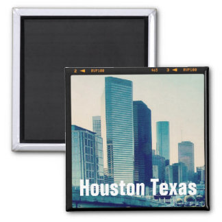 Houston Texas Architecture (Magnet) Square Magnet