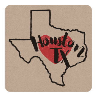 Houston Texas Card or Invitation