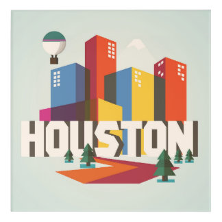 Houston, Texas | Cityscape Design Acrylic Print